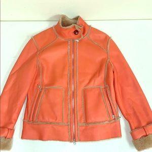NWOT Escada Lambskin Jacket in Orange